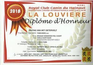CAC CACIB voor Pajtas La Louviere