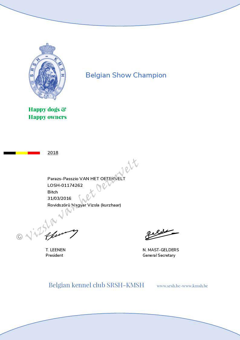 Belgisch Show Kampioen